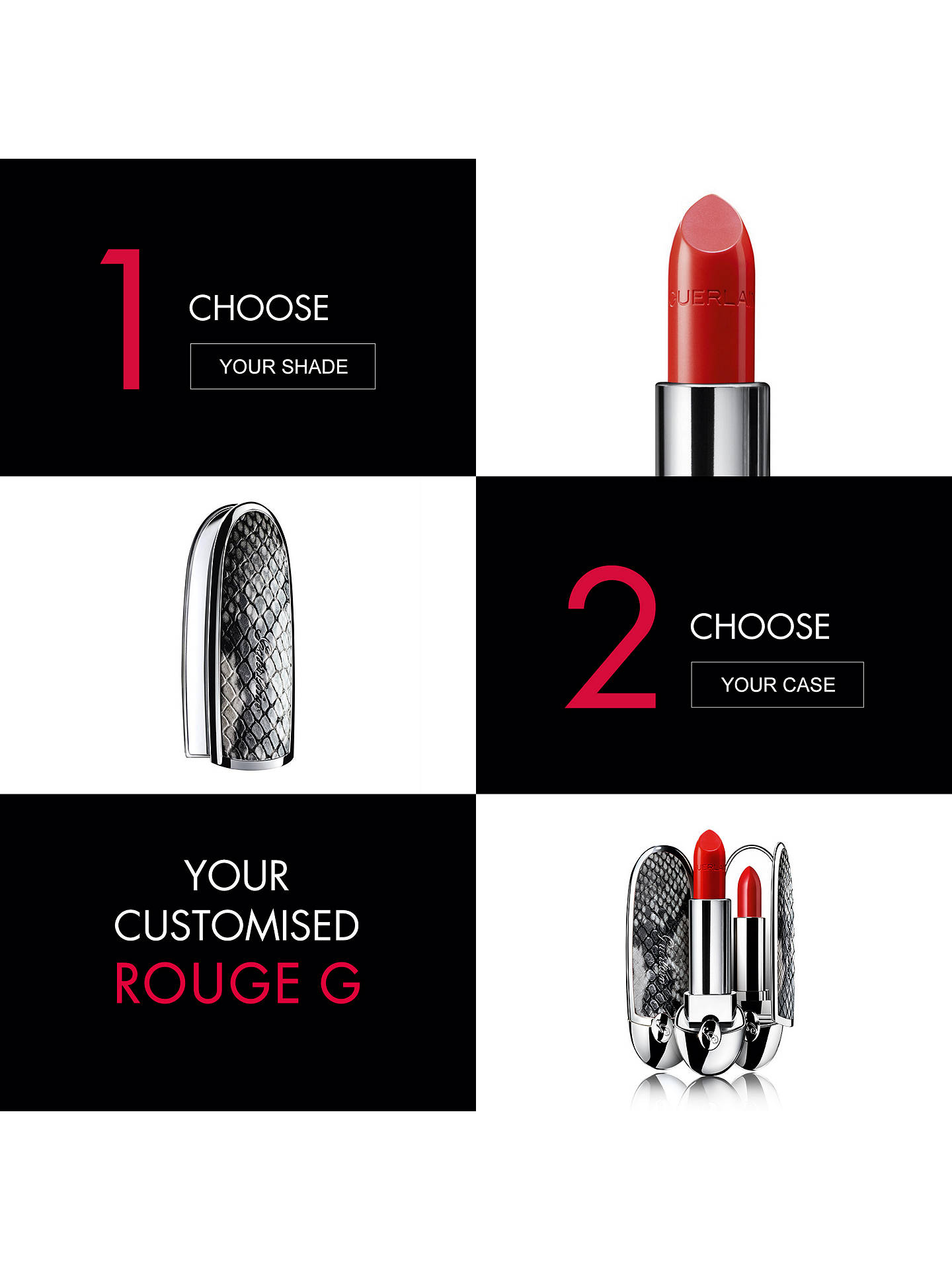 Buy Guerlain Rouge G Lipstick – The Double Mirror Case, Neon Insta Online at johnlewis.com