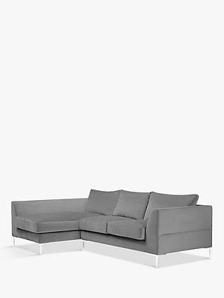 John Lewis & Partners Belgrave LHF Chaise End Sofa, Metal Leg