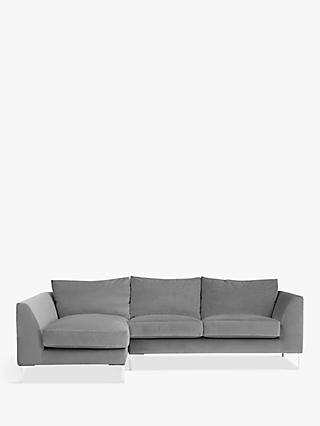 John Lewis & Partners Belgrave RHF Chaise End Sofa, Metal Leg