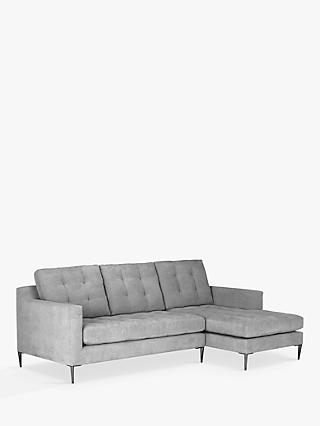 John Lewis & Partners Draper RHF Chaise End Sofa, Metal Legs