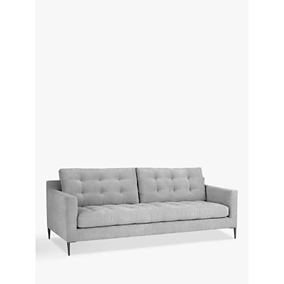 John Lewis & Partners Draper Large 3 Seater Sofa, Metal Legs