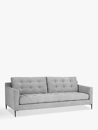 John Lewis & Partners Draper Large 3 Seater Sofa, Metal Legs