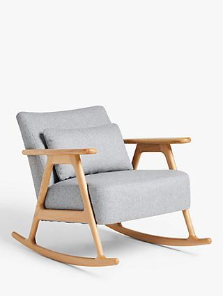 John Lewis & Partners Hendricks Rocking Chair, Light Wood Frame