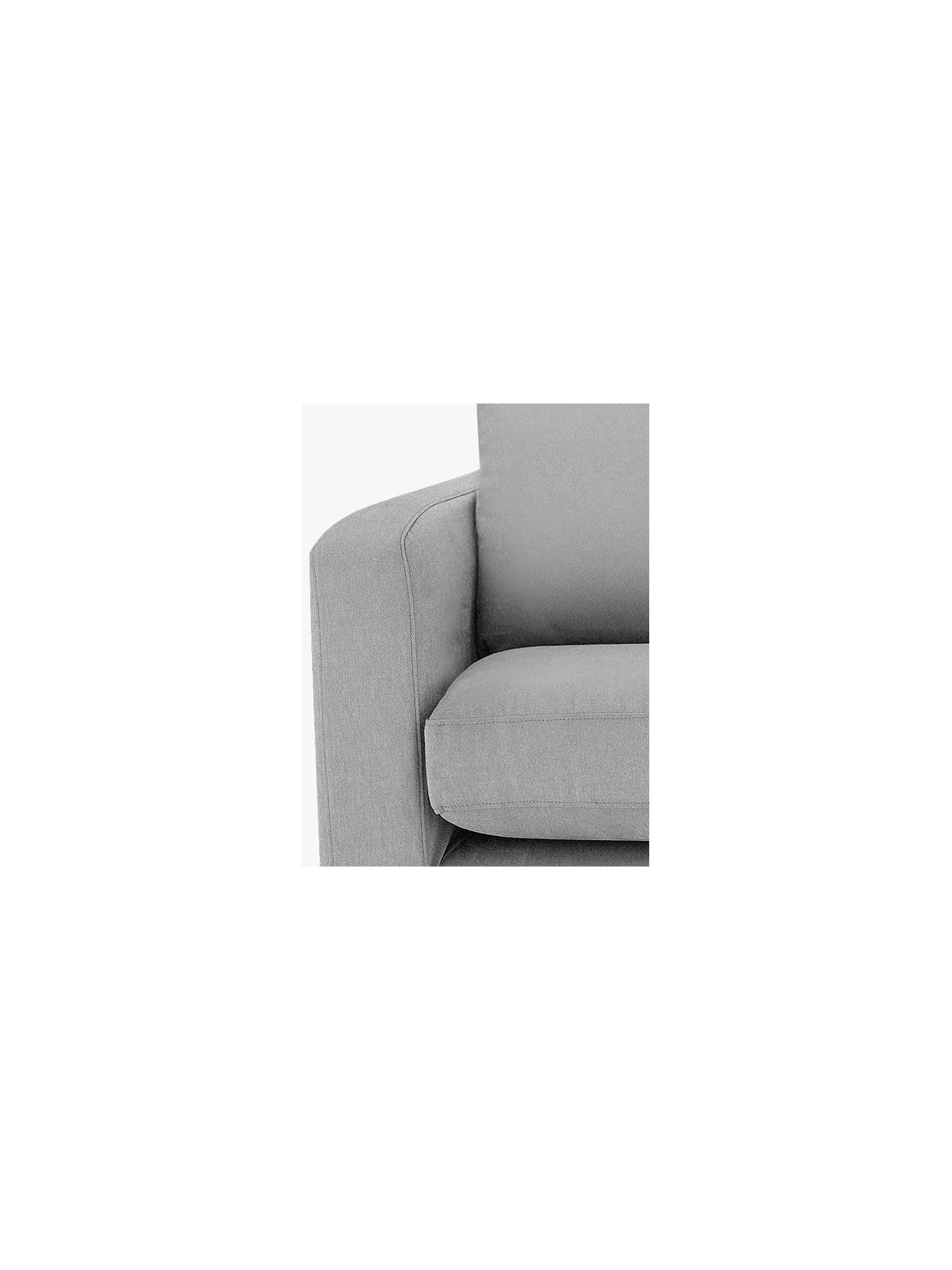 John Lewis Bailey Loose Cover Chair Light Leg Newlyn Putty At John
