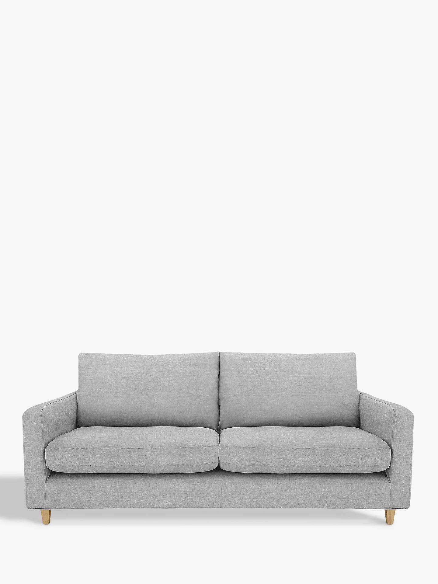 John Lewis Partners Bailey Large 3 Seater Sofa Dark Leg Fraser Steel