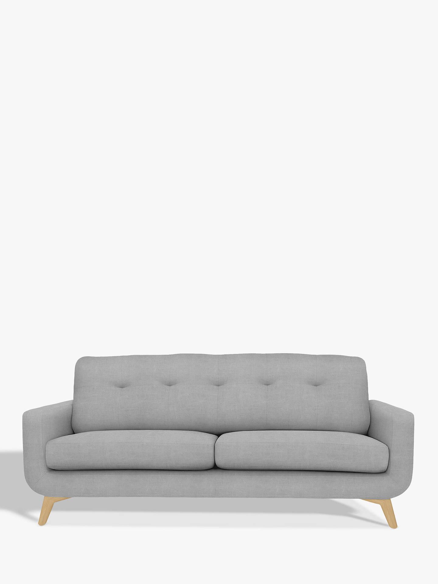 John Lewis Barbican Large 3 Seater Sofa Light Leg At