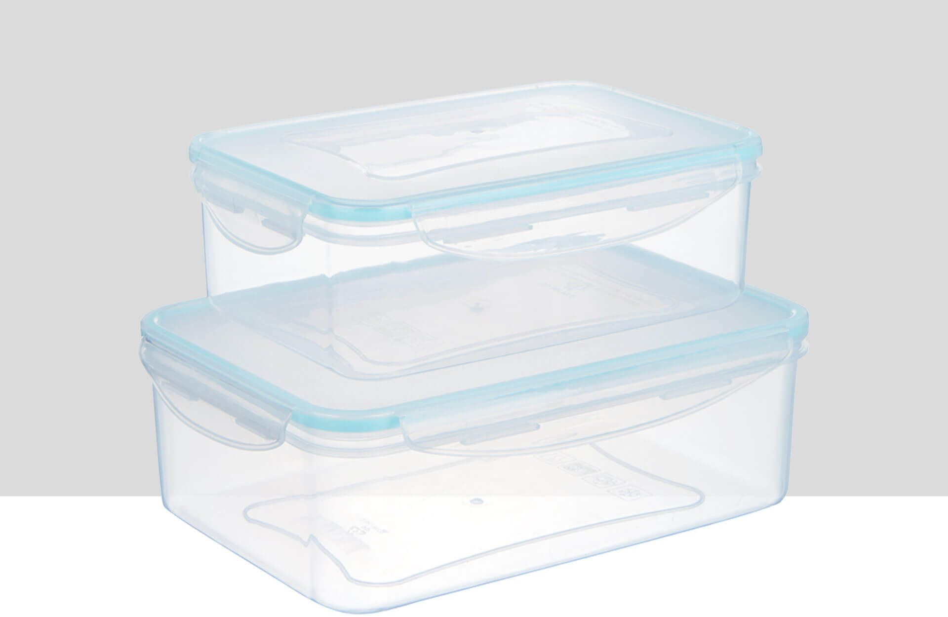 John Lewis rectangular storage containers, set of 2, 1.5l and 2.5l