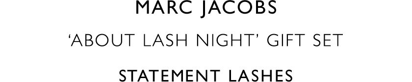 Marc Jacobs 'About Lash Night' Gift set