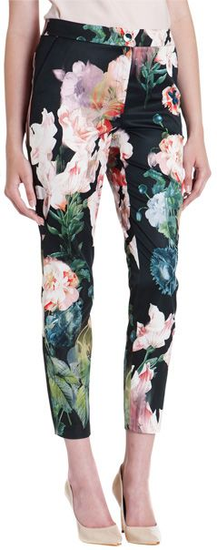 ted baker opulent bloom trousers black