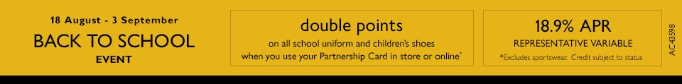 Back to School Double Points Offer