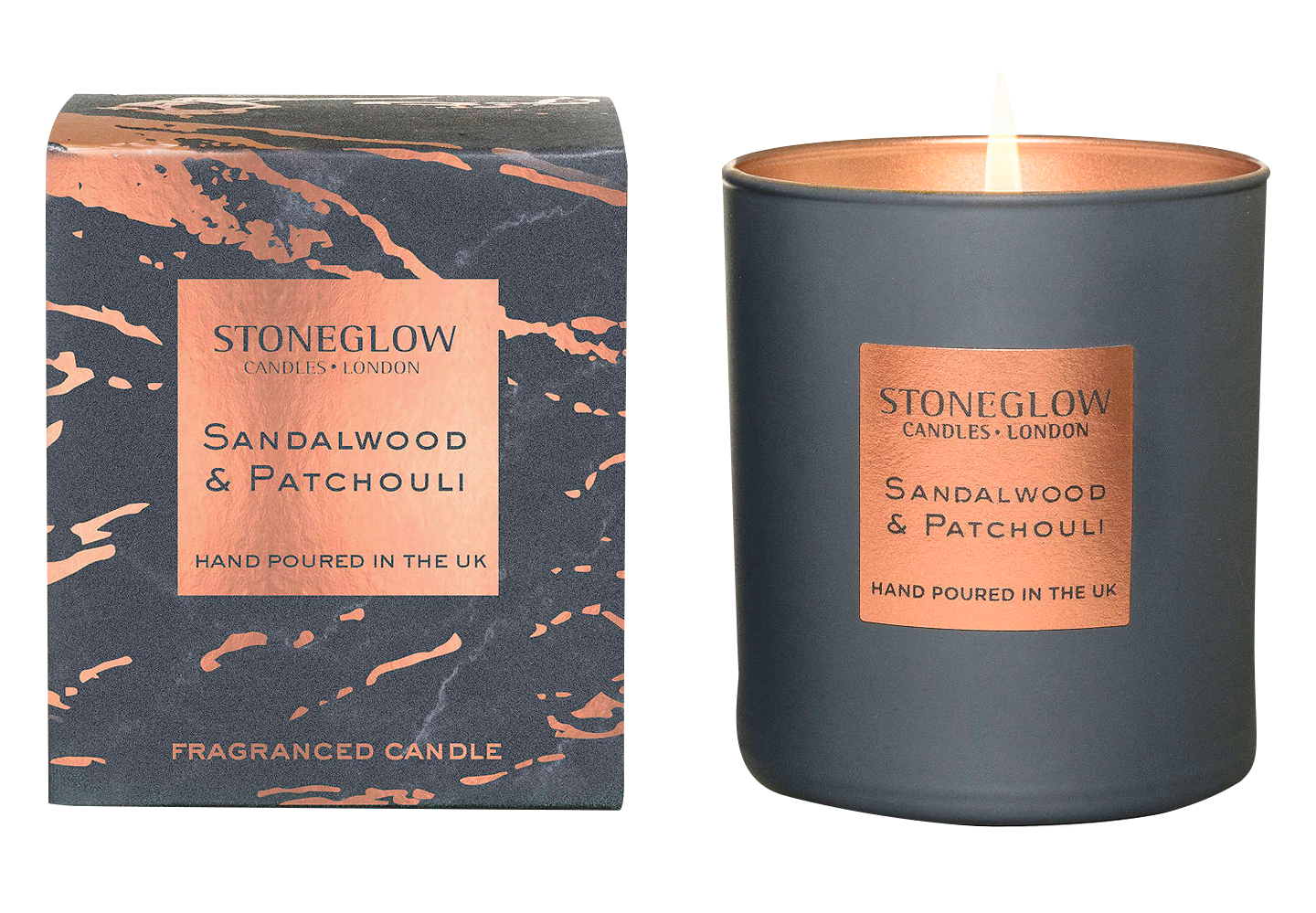 Stoneglow Luna Sandalwood & Patchouli Scented Candle