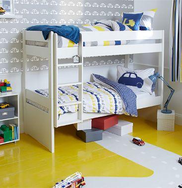 Stompa Uno Plus Detachable Bunk Beds, White