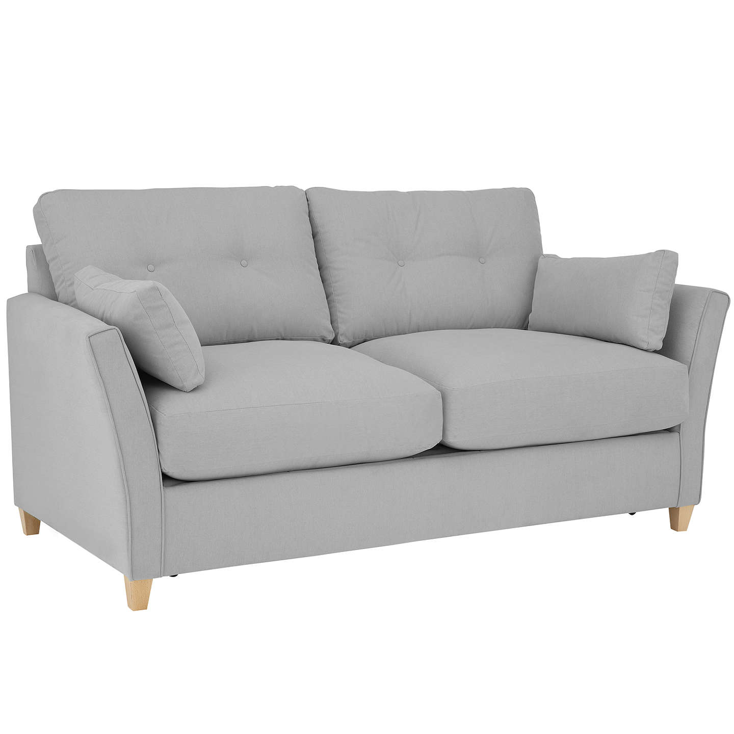 BuyJohn Lewis Chopin Medium Sofa Bed with Pocket Sprung Mattress, Light Leg, Mole Grey Online at johnlewis.com