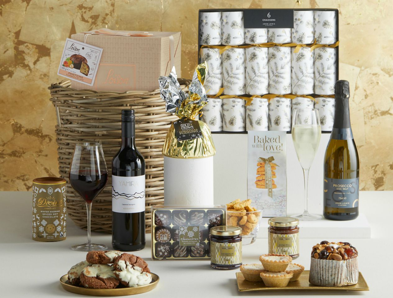 Stylish John Lewis & Partners Christmas hamper