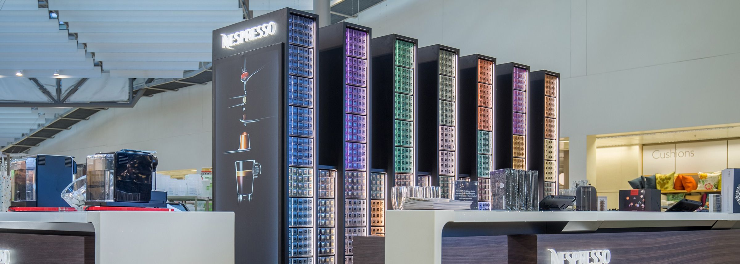 Nespresso Boutiques in our shops