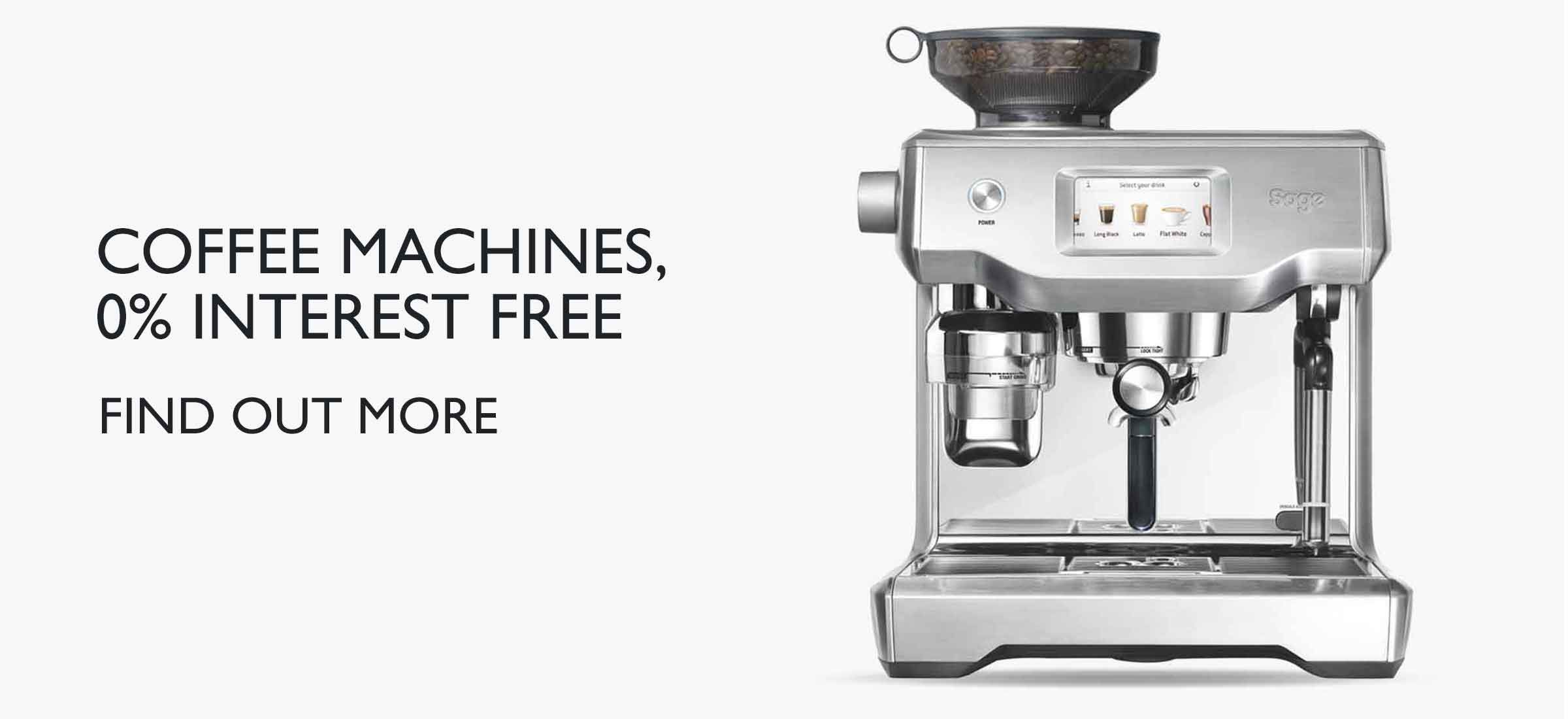 Interest Free Credit on Selected Coffee Machines