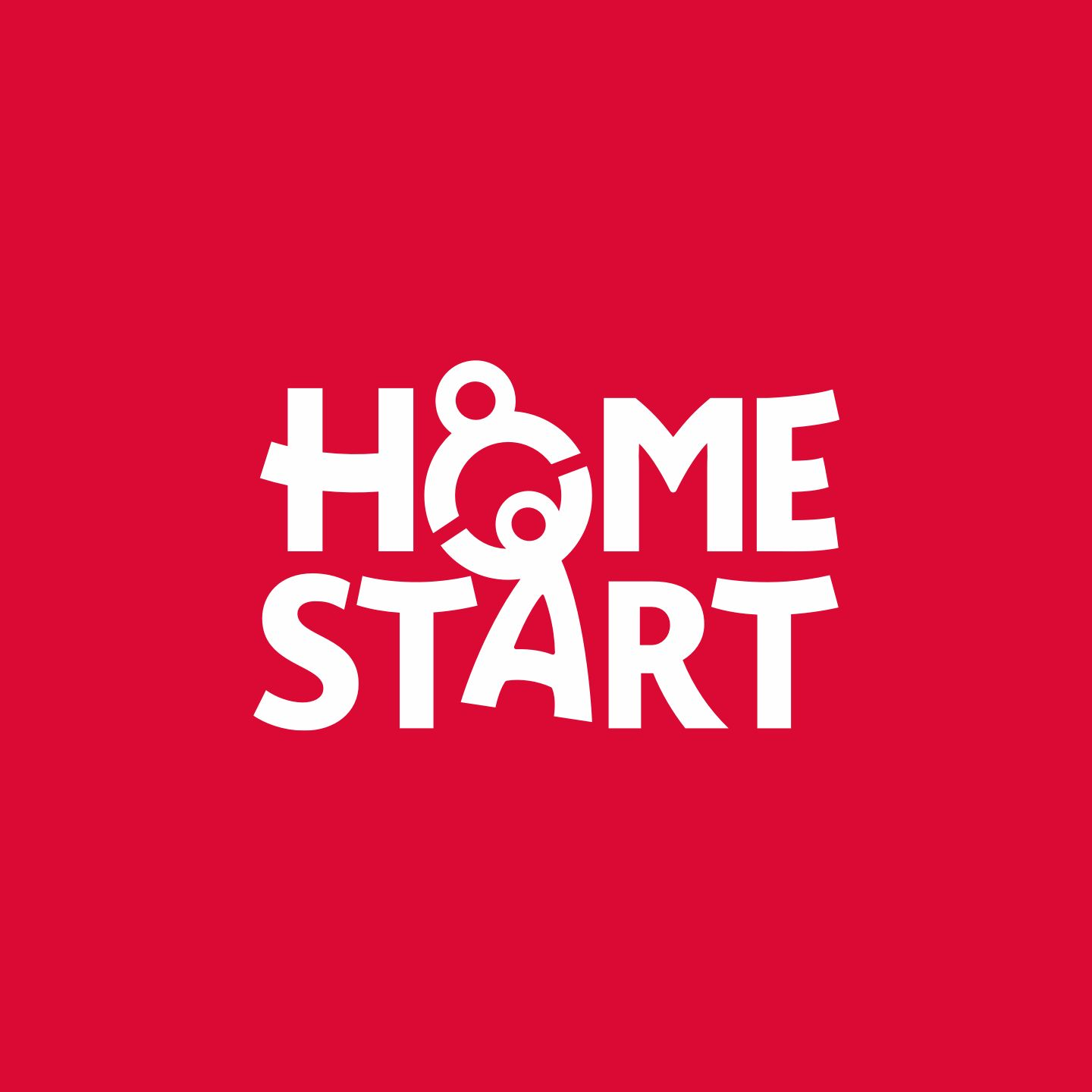 Home-Start Logo on red background