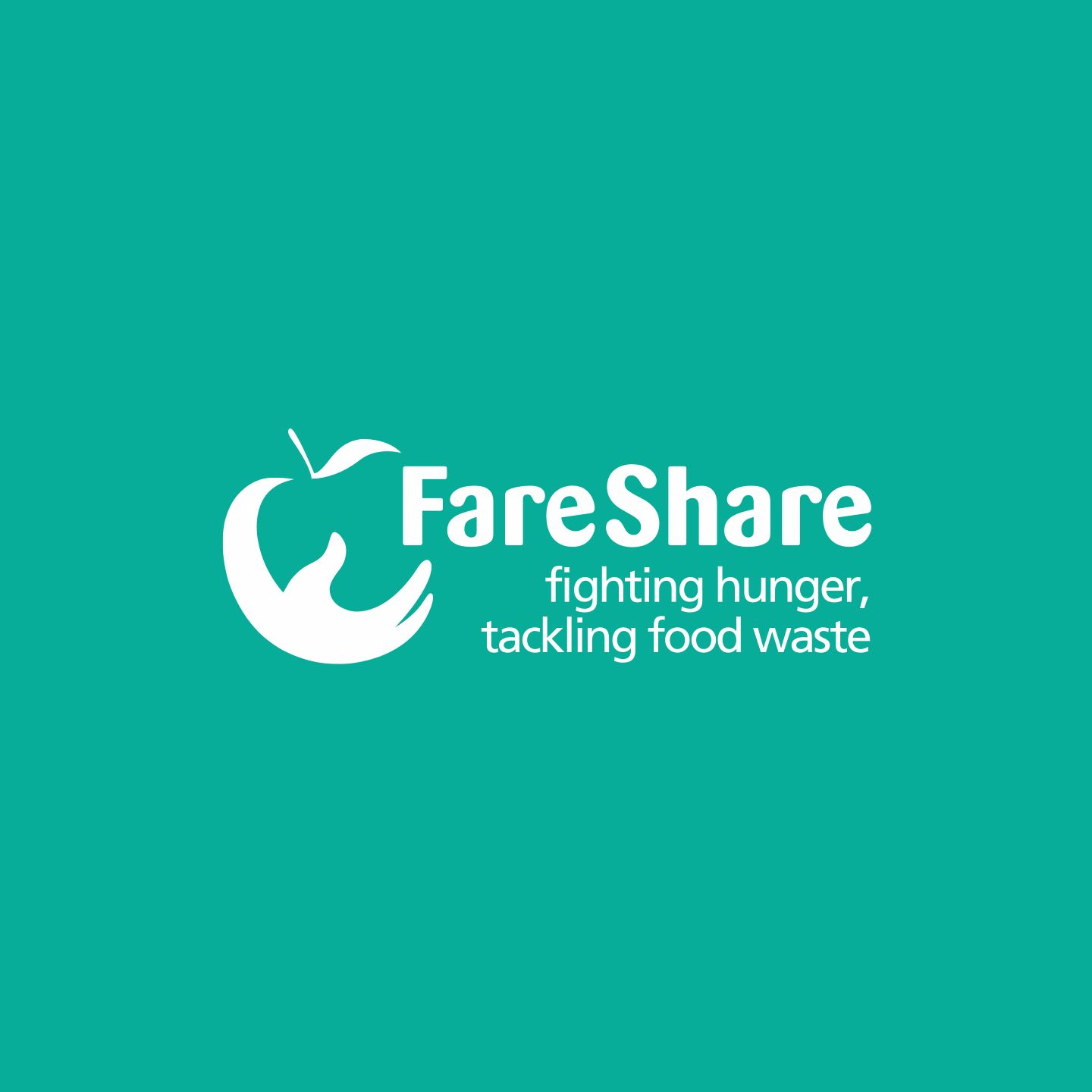 Fareshare Logo on teal background