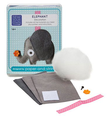Sew Your Own Decoration Kit, Elephant