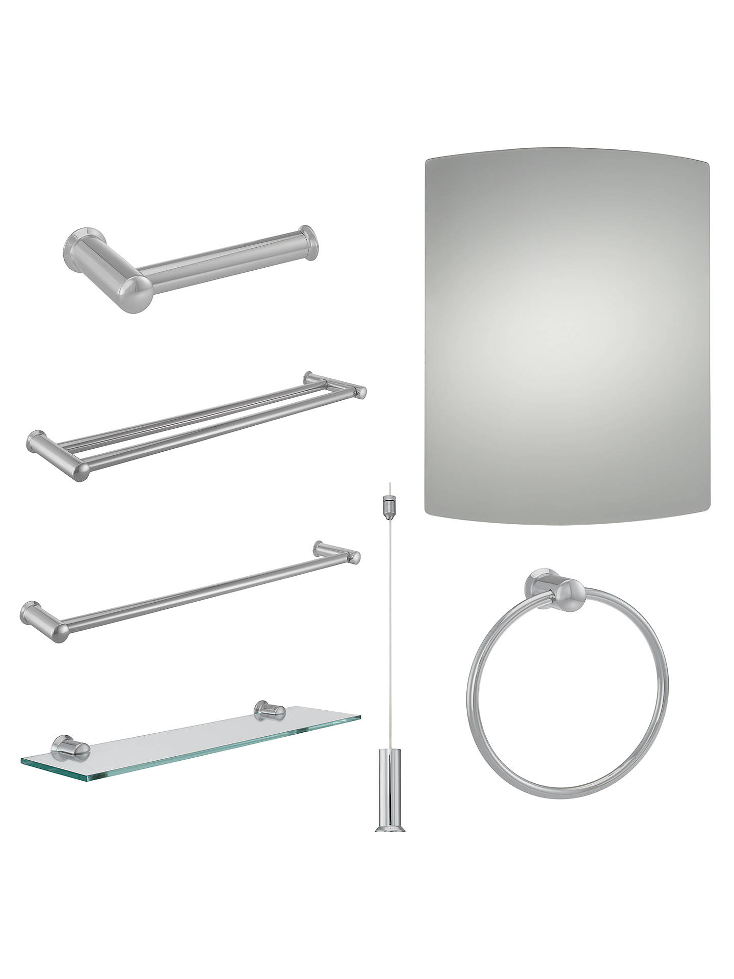 3e379a77ca2e ... Buy Croft Collection Skye Bar Toilet Roll Holder Online at johnlewis.com