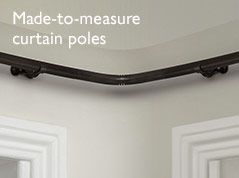 Made to measure curtain poles