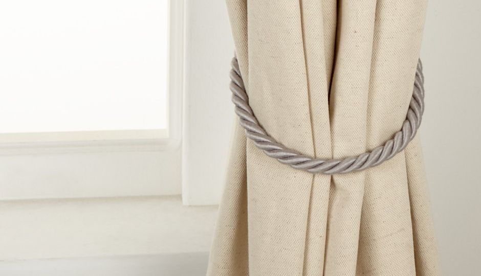 Basics rope tieback in grey