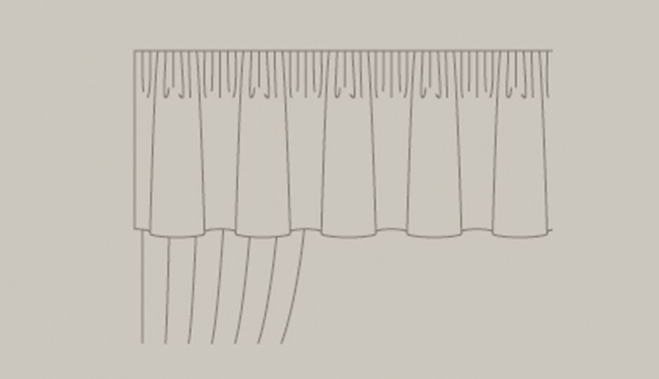 curtain valance illustration