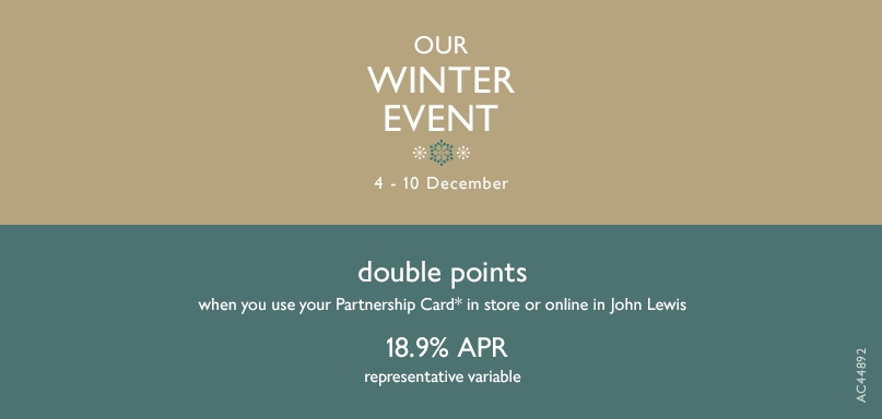 Our Winter Event Double Points