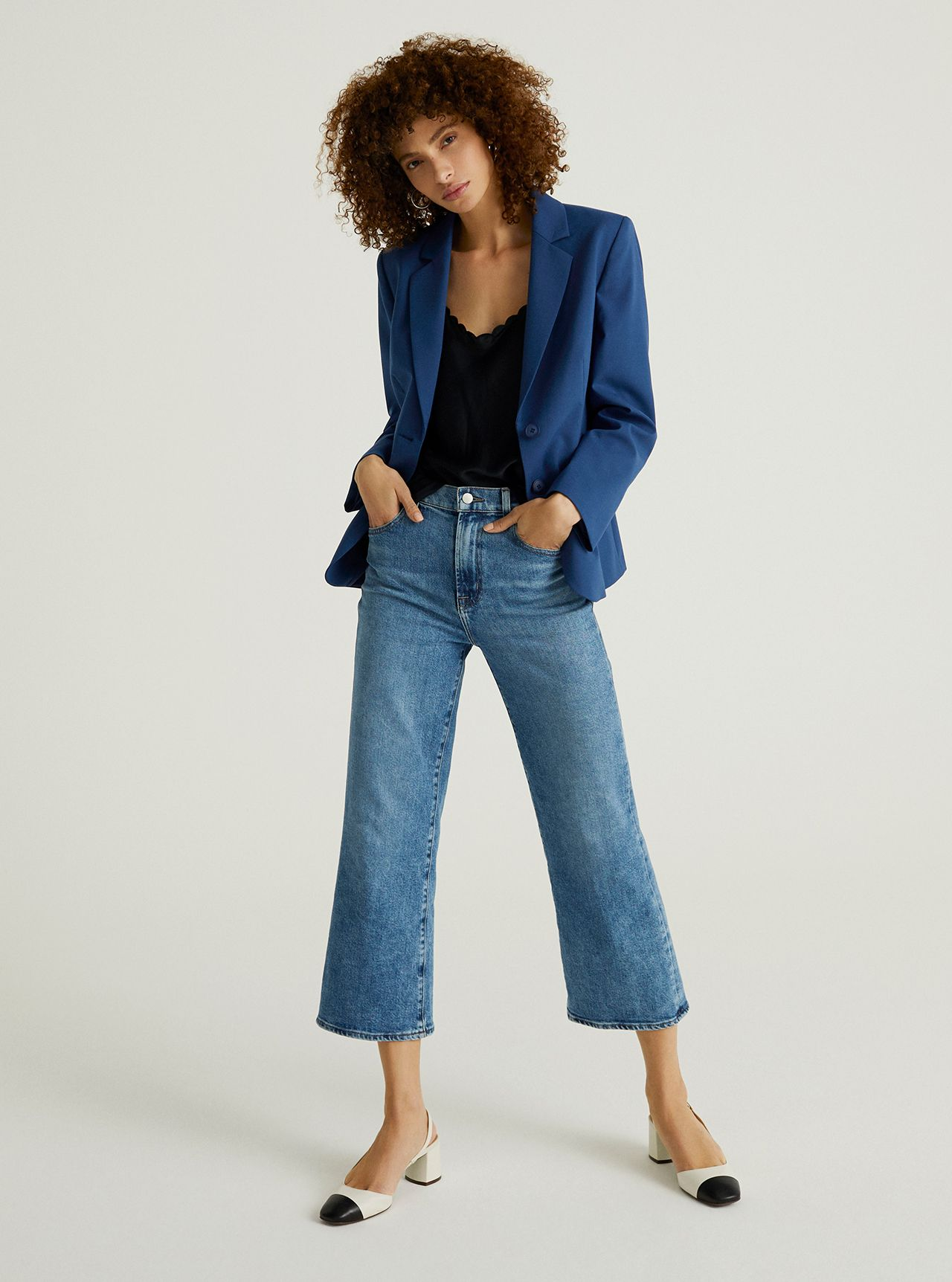 John Lewis & Partners Denim - The Cropped Flare Jean