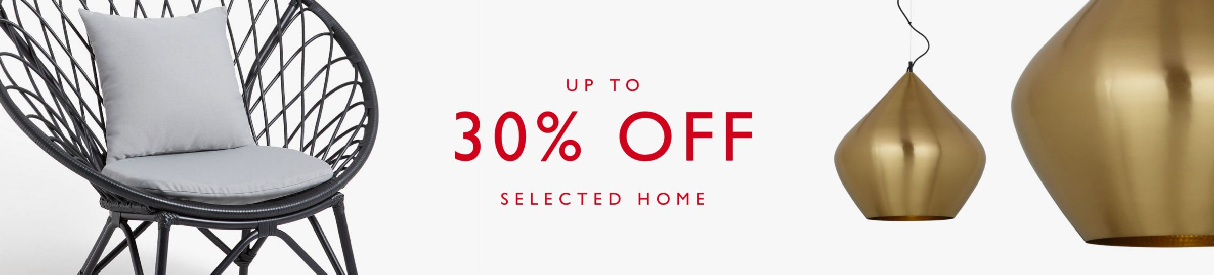 Up to 30% off selected Home