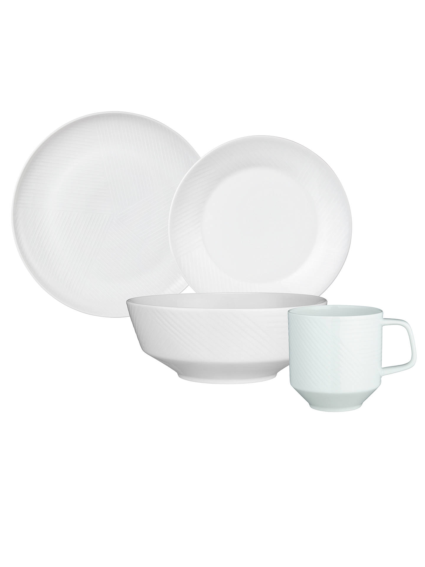 Buy Design Project by John Lewis No.098 Coupe 23cm Plate, White Online at johnlewis.com