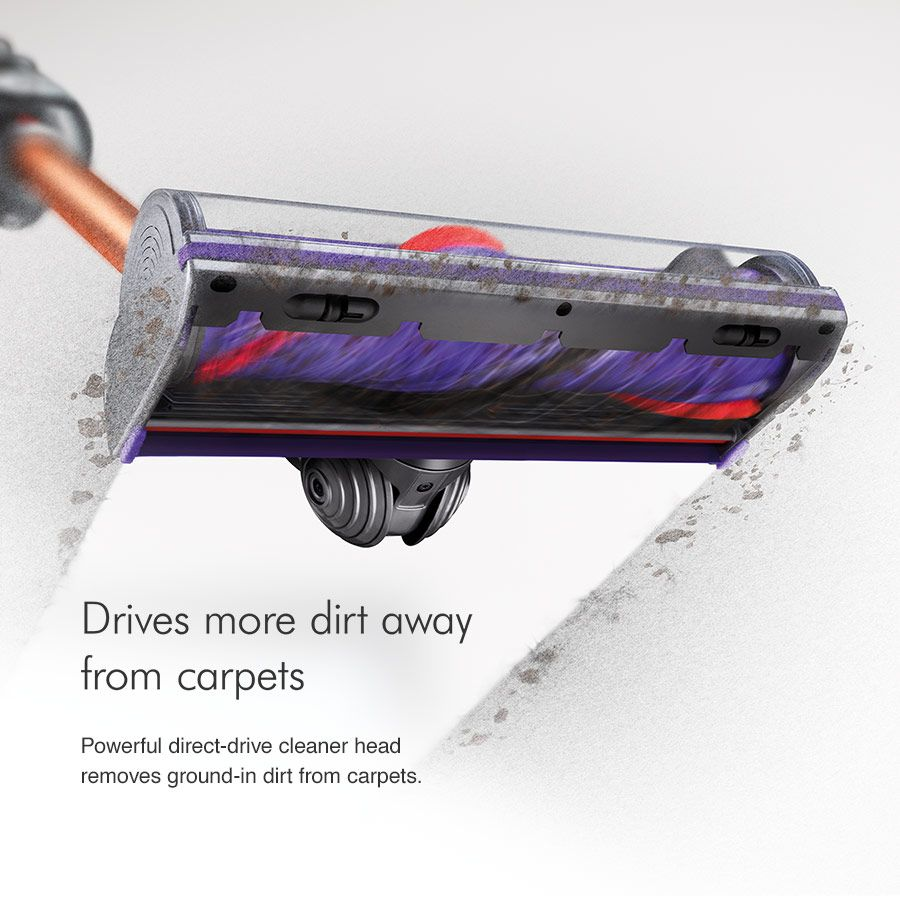 Dyson vacuum drives more dirt away