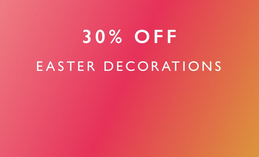 30 PERCENT OFF EASTER decorations