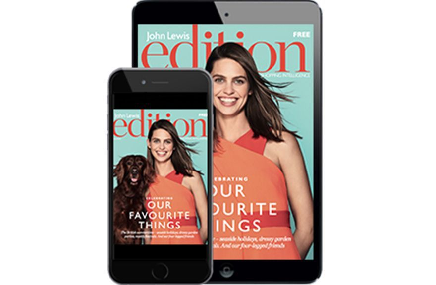 iPad showing Edition Magazine