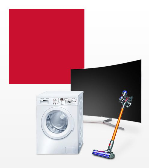 TV, Washing machine, cordless vacuum