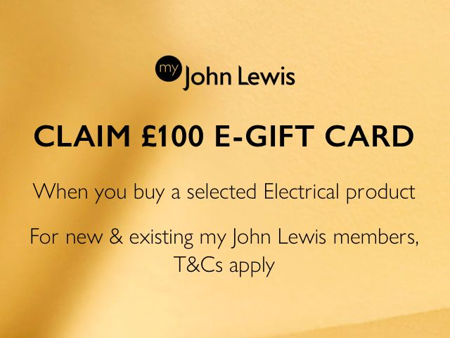 CLAIM £100 E-GIFT CARD WHEN YOU BUY A SELECTED ELECTRICAL PRODUCT