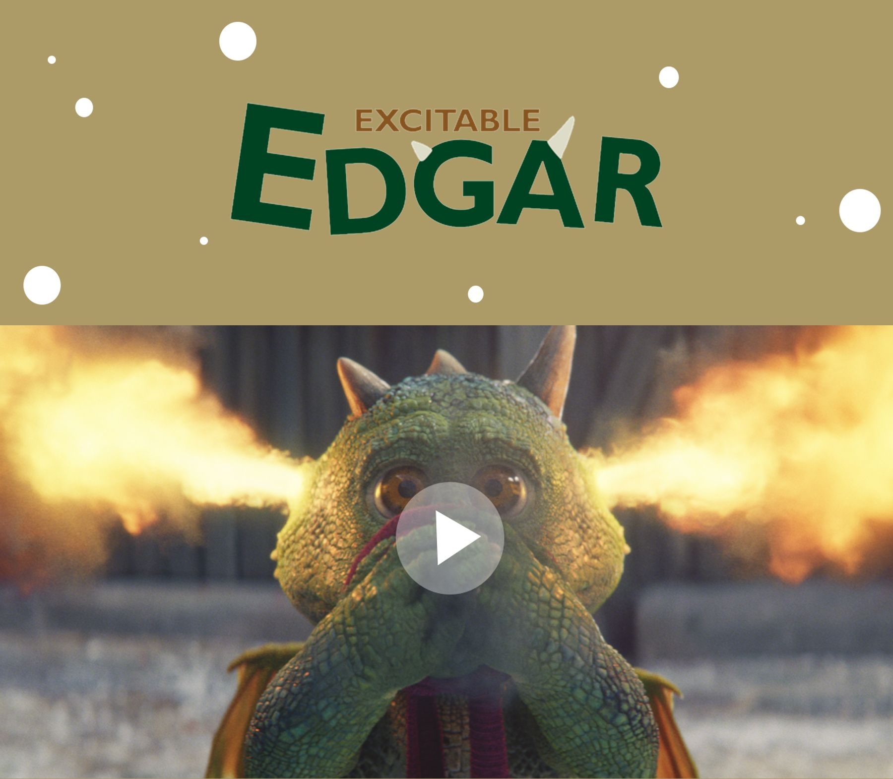 Excitable Edgar TV ad