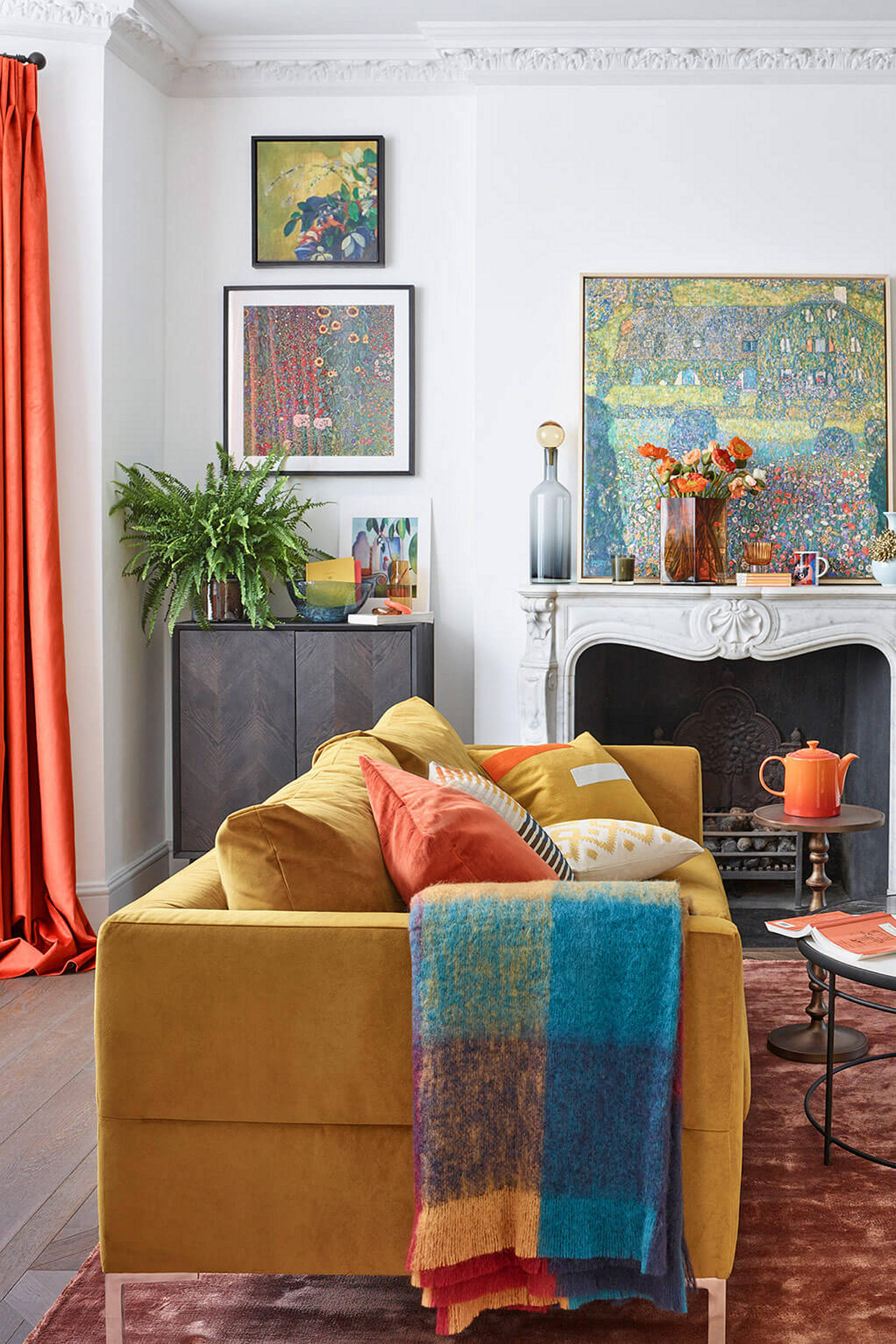 Room for Expression: Yellow sofa