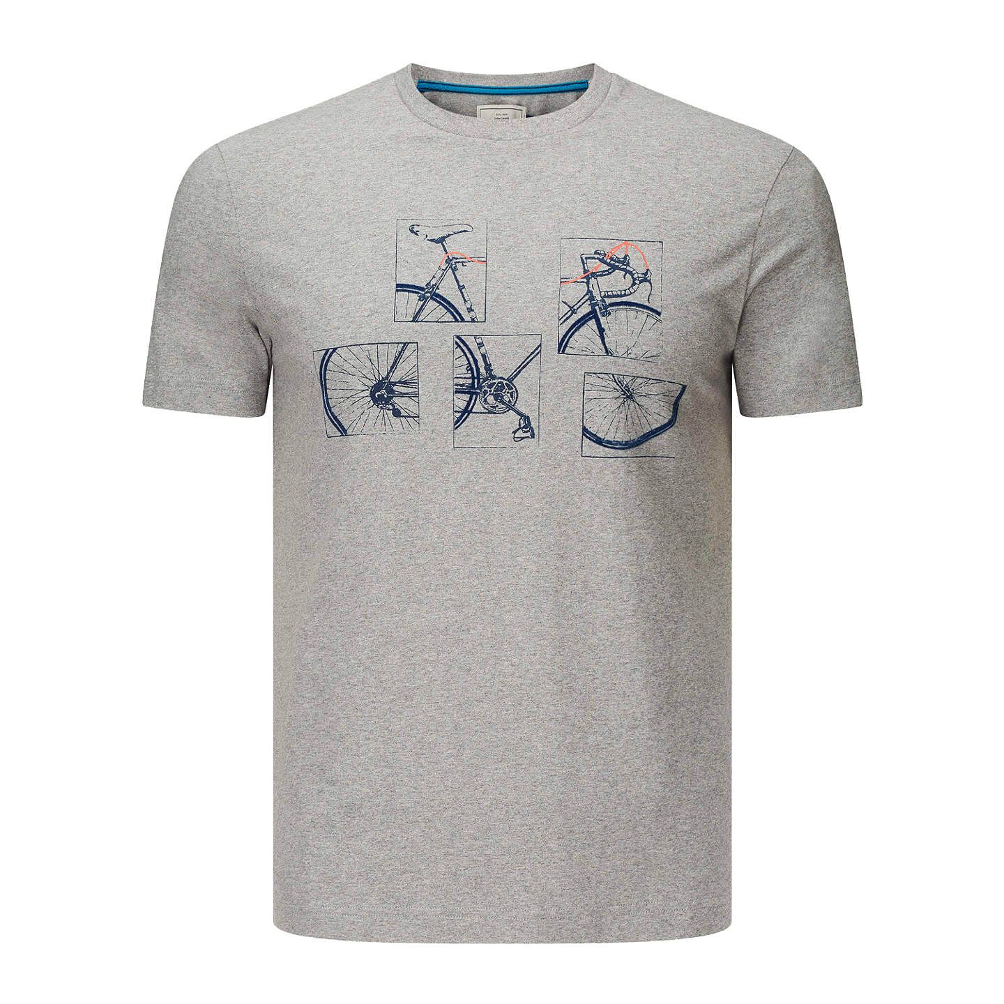 John Lewis Bike Placement Graphic T Shirt Grey