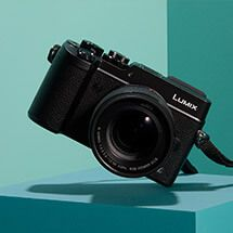 Panasonic Lumix DMC-LX100 Camera, 4K Ultra HD, 12.8MP, 3.1x Optical Zoom, EVF, 3 LCD Screen, Black