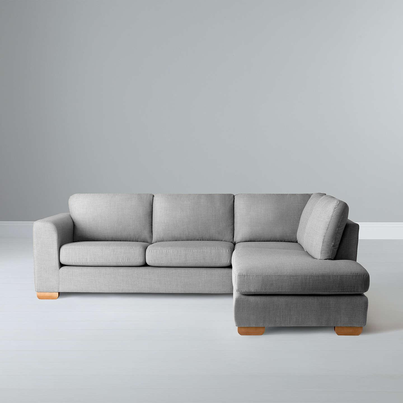 john lewis felix rhf corner chaise end sofa bala charcoal. Black Bedroom Furniture Sets. Home Design Ideas