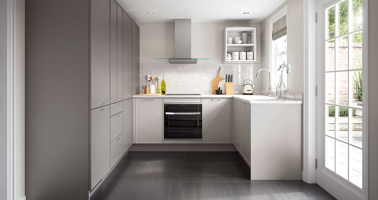 Grey And White Contemporary Kitchens