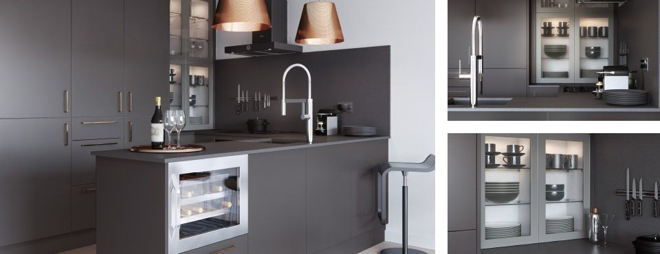 A sophisticated design statement for the modern urban home  Combining deep  blacks and smoky greys with warm copper highlights perfectly captures a  confident. John Lewis Fitted Kitchen Service
