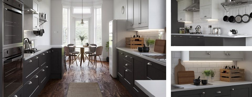 A bold update of the classic kitchen look  Monochrome tones with chrome  details deliver beautiful contrasts  creating a dramatic space for a true  style. John Lewis Fitted Kitchen Service