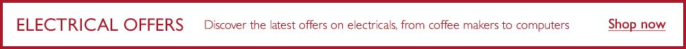 Electrical offers - Discover the latest offers on electricals, from coffee makers to computers