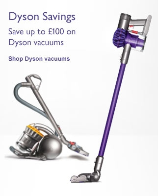 Dyson savings - Save up to £100 on Dyson vacuums