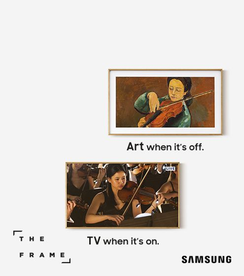 Art when it's off. TV when it's on.