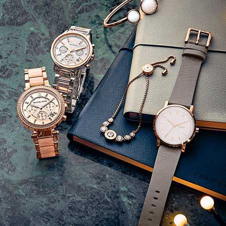 Range of watches and jewellery