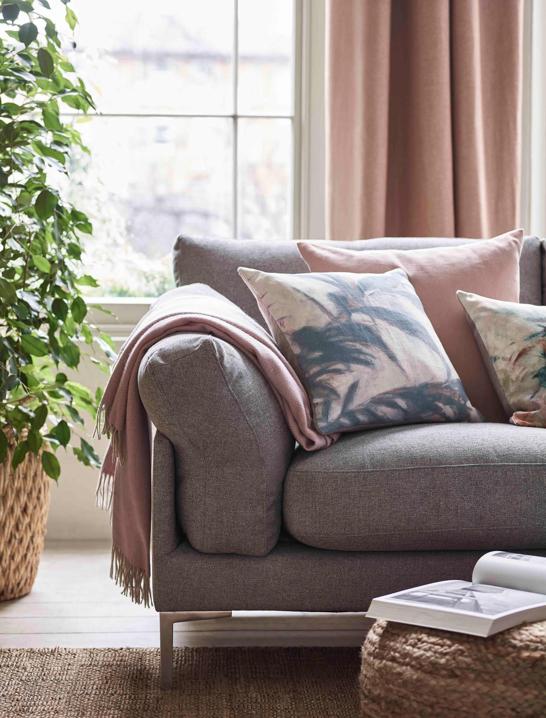 how to style your sofa with throws