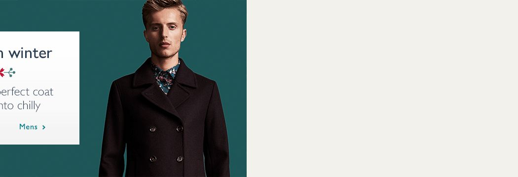 Find your perfect winter coat - Mens coats